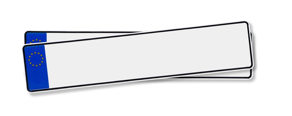 witte kentekenplaat